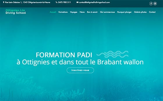Club de plongée - Brabant wallon